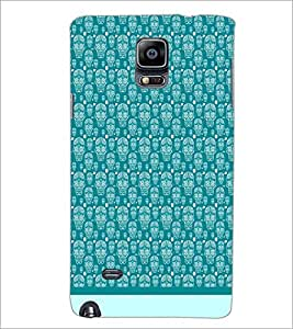 PrintDhaba Skull pattern D-1947 Back Case Cover for SAMSUNG GALAXY NOTE 2 (Multi-Coloured)
