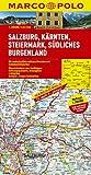 MARCO POLO Karte Salzburg, Kärnten, Steiermark, Südliches Burgenland 1:200.000