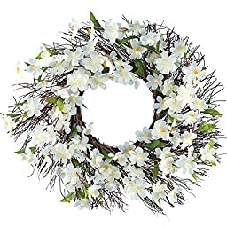 Floral Cherry Blossom Wreath