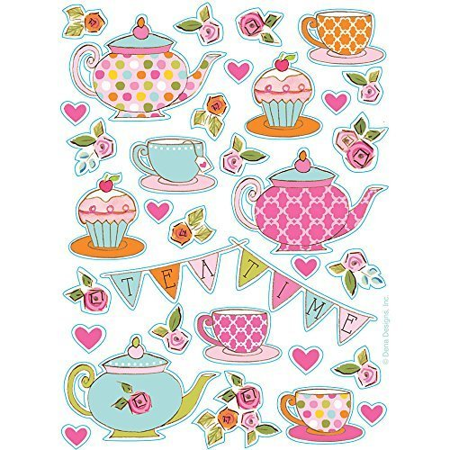 Tea Time Party Stickers (4 sheets) (Teapot Stickers compare prices)