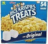 Kelloggs Rice Krispies Treats Original Crispy Marshmallow Squares .78 oz Bars - 54 Bars