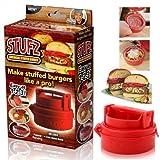 STUFZ Stuffed Burger Press Hamburger Grill BBQ Patty Maker Juicy