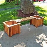 #10 Two Cedar Planters/One Bench Set