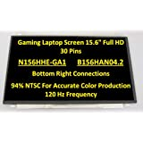 BLISSCOMPUTERS for Laptop 15.6 120HZ IPS LED LCD Screen Display Matrix Panel EDP 19201080 FHD 72% NTSC New N156HCE-GA2 B156HAN04.5 B156HAN04.2