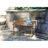 Home & Garden Portable and Sturdy Surface Roll-Up Wooden Picnic & Camping Table
