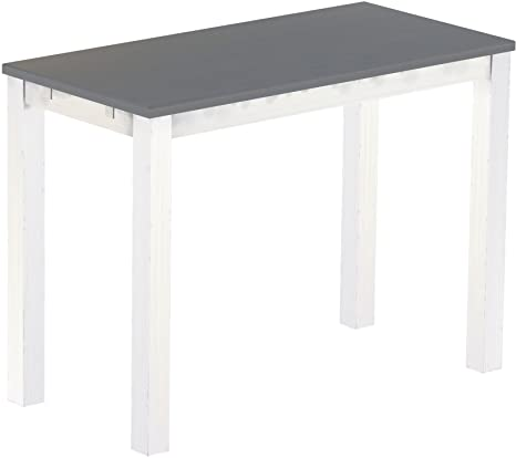 Brasil High Table Furniture Silk Grey 'Rio' 150 x 73 cm Solid Pine Wood – White
