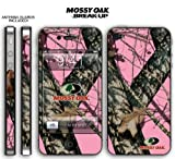 New Apple iPhone 4 Designer Skin with ANTENNA GUARDS- Mossy Oak Breakup-Pink