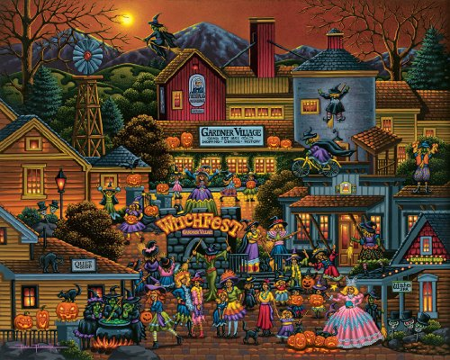 Gardner Village Witchfest - 500pc Jigsaw Puzzle By Dowdle Folk Art