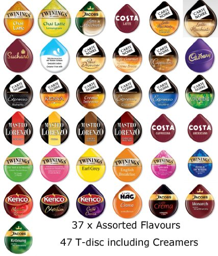 Shop for TASSIMO T-disc / Capsules, 37 FLAVOURS (46 T-discs) from TASSIMO