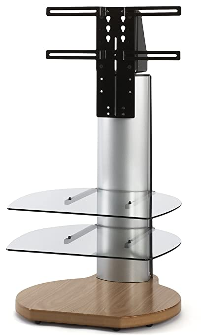 Origin II S3 Oak and Silver Cantilever TV Stand