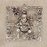 Decor & Craft Emporium Antique White Metal Swastik Ganesha Hanging 313