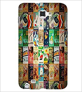 PrintDhaba Books Pattern D-4531 Back Case Cover for SAMSUNG GALAXY NOTE 1 (Multi-Coloured)