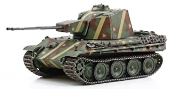 Flak38 equipped with anti-aircraft tank Panther 1/72 German 5.5cm twin cannon (japan import)