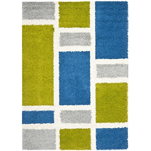 Fadfay Super Soft Modern Shaggy Area Rugs Turquoise Rug: Cozy, Comfy & Bright Shag Area Rugs