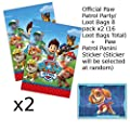 Official Paw Patrol Party/Loot Bags x16 (2 packs) + Paw Patrol Panini Sticker