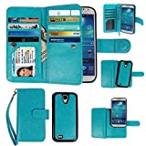 Samsung Galaxy S4 Case, xhorizon TM Premium Leather Folio Case [Wallet Function] [Magnetic Detachable] Fashion Wristlet Lanyard Hand Strap Purse Soft Flip Book Style Multiple Card Slots Cash Compartment Pocket with Magnetic Closure Case Cover Skin ZA5 for Samsung Galaxy S4 (I9500) - Blue - Best Reviews Guide