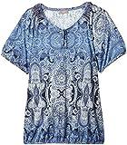 Triangle by s.Oliver Damen T-Shirt mit Saumbund 33.506.32.3031, Einfarbig