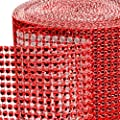 Dress My Cupcake Red Diamond Rhinestone Ribbon Wrap BULK 30 feet - Wedding Decorations, Party Supplies, Stands, Trees for Cakes & Desserts