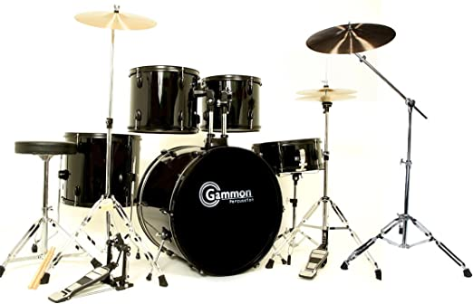 Black Cymbal Set Black Drum Set 5 Piece