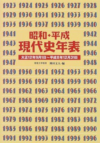 昭和・平成・現代史年表