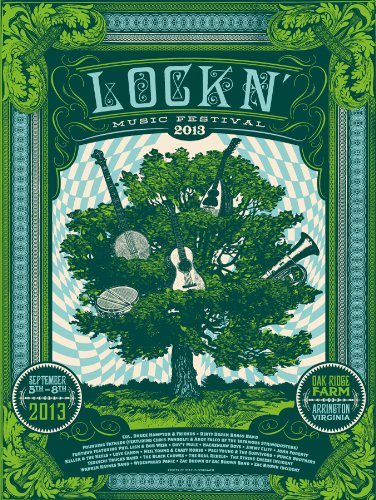 INTERLOCKEN LOCKN MUSIC FESTIVAL POSTER SIGNED NUMBERED GRATEFUL DEAD FURTHUR PHISH... by FURTHUR WIDESPREAD PANIC TREY ANASTASIO