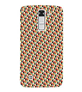 Colourful Pattern 3D Hard Polycarbonate Designer Back Case Cover for LG K10 :: LG K10 Dual SIM :: LG K10 K420N K430DS K430DSF K430DSY