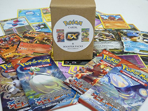 Pokemon-Collector-Starter-Kit-Booster-Packs-EX-Ultra-Rare-Bulk-Cards-Lot-30-Pokemon-Cards-5-Holo-1-Ex-Card-2-Sealed-Booster-Packs-Gift-Toy-Value-Box