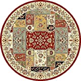 "5'3"" x 5'3"" Round Oscar Isberian Rugs Area Rug Machine Made Turkey ""Lyndhurst Collection"""