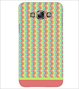 PrintDhaba Zig Zag Pattern D-1701 Back Case Cover for SAMSUNG GALAXY A7 (Multi-Coloured)
