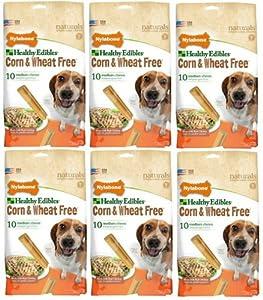 Nylabone Corn Free/Wheat Free Heart w/Real Chicken 60ct 4.25
