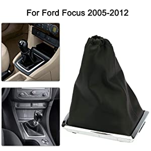 Wonvon Car Gear Gaiter Shift Boot,Manual PU Leather Gear Boot Gaiter Cover for 2005-2012 Ford Focus