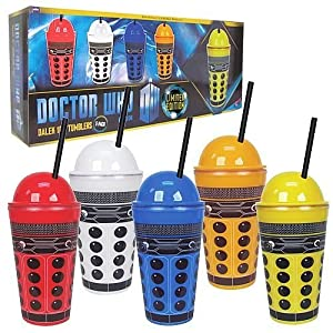 Doctor Who Dalek 16oz. Tumblers 5-pack