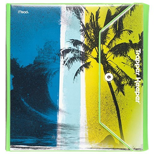 mead-trapper-keeper-round-ring-binder-15-inch-fashion-wave-palm-trees-blue-green-73425-by-mead
