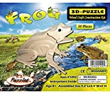 Puzzled Frog 3d Natural Wood Puzzle