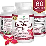 BEST 100% ULTRA PURE Forskolin Extract For Weight Loss ? MAXIMUM STRENGTH 40% Standardized HIGHEST POTENCY Fat Burner Fuel 60 Premium Belly Buster Coleus Forskohlli Root Extract Supplement Pills