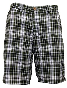 Jack & Danny's Men's Check Summer Shorts Green Small