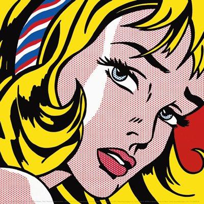 ロイ・リキテンスタイン Roy Lichtenstein: Girl with Hair Ribbon, 1965 アートポスター
