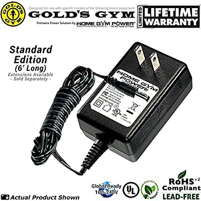 "Gold's Gym Power Spin 390R, 490, 590R Home Gym Power® ""Wall Plug"" AC Adapter / Power Cord"