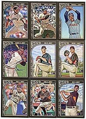 San Francisco Giants 2015 Topps Gypsy Queen MLB Baseball Complete Mint Basic 9 Card Team Set with Willie Mays Brandon Belt Plus