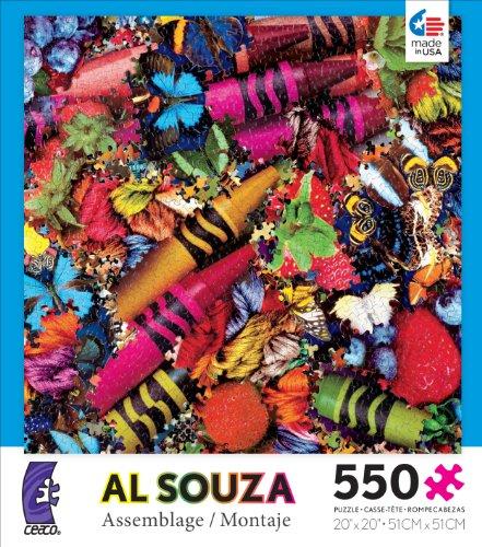 Ceaco Al Souza Assemblage Big Crayons Jigsaw Puzzle