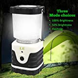 LE® LED Lantern, Ultra Bright 300lm, 3 Lighting Modes, Battery Powered, Water Resistant, Home, Garden and Camping Lanterns for Hiking, Camping, Emergencies, Hurricanes, Outages, Super Bright, LED Camping Lantern