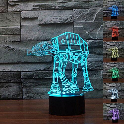 LeaningTech 平面ランプ LEDスタンドライト 3D立体感 USB給電 節電 インテリアに最適 Star Wars AT-AT