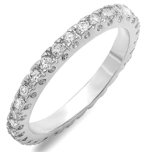 -00-CT-Classic-Ladies-Round-Cubic-Zirconia-CZ-Engagement-Eternity-Ring-Available-in-size-6-7-8-