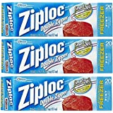 Ziploc Freezer Bag, Pint, 20-Count (Pack of 3)