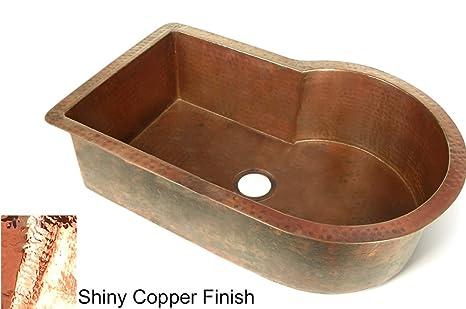 "Copper 33"" x 22"" Nautilus Single Bowl Kitchen Sink Finish: Shiny Copper"