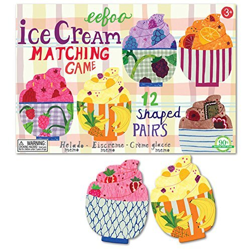 Eeboo Ice Cream Matching Game by eeBoo (Ice Cream Matching Game compare prices)