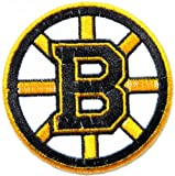 "2"" Mini NHL Boston Bruins Team Logo Polo Shirt jacket Patch Sew Iron on Embroidered Badge Sign at Amazon.com"