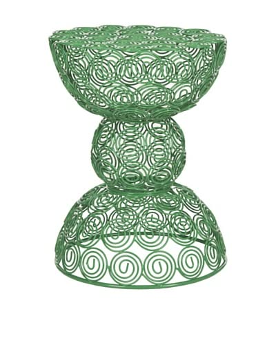 Safavieh Leila Iron Wire Stool, Green