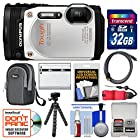 Olympus Tough TG-860 iHS Wi-Fi GPS Shock & Waterproof Digital Camera (White) with 32GB Card + Case + Battery + Flex Tripod + Float Strap + Kit
