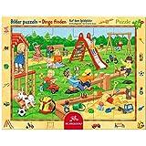 Spiegelburg 11413 Rahmenpuzzle Auf dem Spielplatz (24 Teile)
